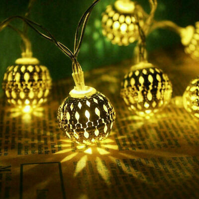 Moroccan Solar Garden String Lights Hanging Lantern Fairy Light Outdoor Romantic • 11.99£
