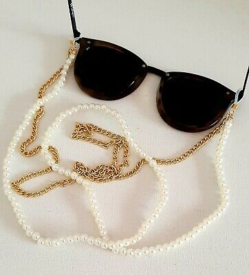 Gold Double Pearl Chain Sunglasses Chain Other Bloggers Stories Mango  • 6.99£