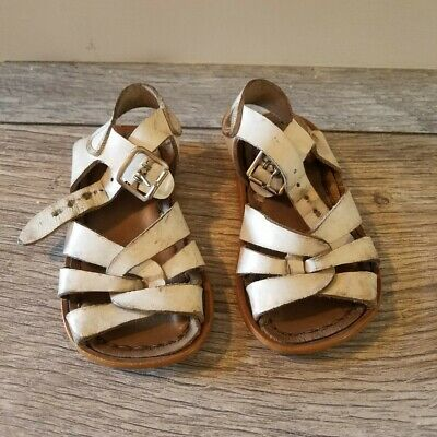 $9 • Buy SaltWater Sandals Toddler Girl Size 4 White Color, Pre-owned