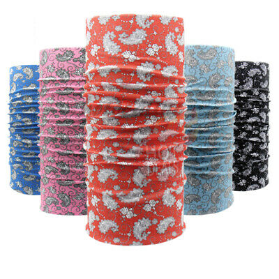 AU18.06 • Buy 3 PCS Tube Paisley Bandana Motorcycle Biker Headwrap Gaiter Lot