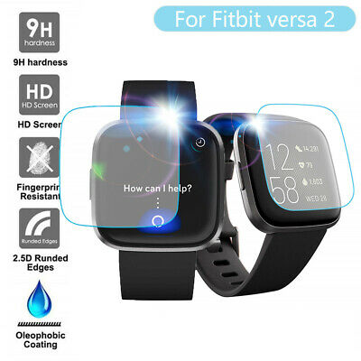 $ CDN7.90 • Buy 3/5PC Clear Film Tempered Glass Screen Protector For Fitbit Versa 2 Smart Watch
