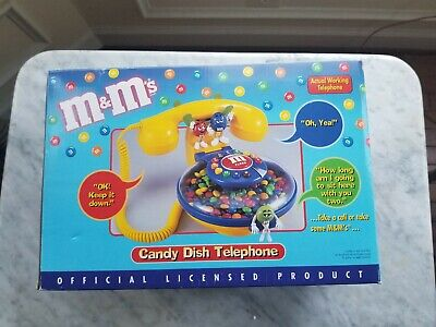 $49 • Buy M&M's Collectible Candy Dish Telephone New In Box Never Used