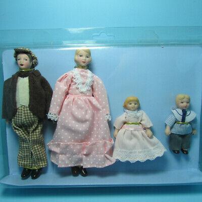 $ CDN39.77 • Buy Dollhouse Miniature Porcelain Victorian Country Family Dolls Dad Mom Kids 06816