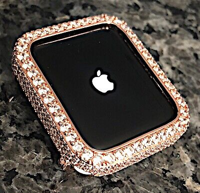 $ CDN80.16 • Buy 42mm Rose Gold Lab Diamond Apple Watch Bezel Case Cover Metal Iwatch Series 2/3