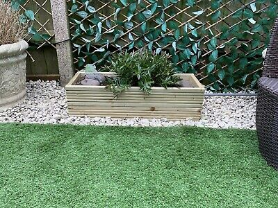 Wooden Decking Raised Garden/  Herb / Flower Bed  (made To Order)  • 25£