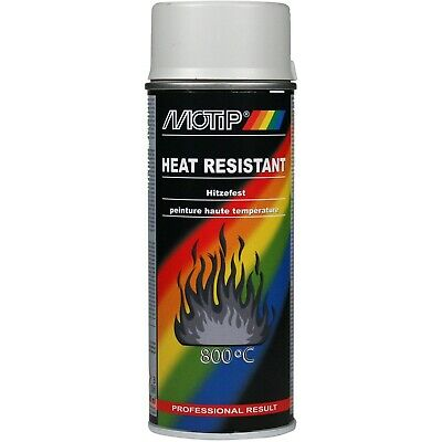 £12.99 • Buy Motip Grey Heat Resistant To 800°c Lacquer Spray Paint 400ml - M04039