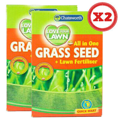 £7.95 • Buy 151 All In One Grass Seed & Lawn Fertiliser 750g (Pack Of 2) Ready To Use
