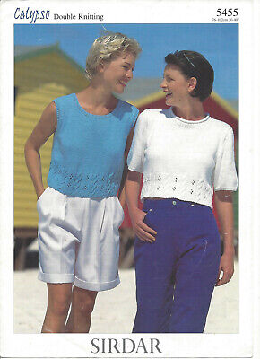 Knitting Pattern For Ladies Cropped Top - Sleeveless Or Short Sleeved In DK • 2.25£