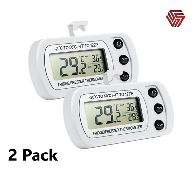 £13.85 • Buy 2-Pack Digital Waterproof Fridge/Freezer Thermometer With LCD Min/Max.