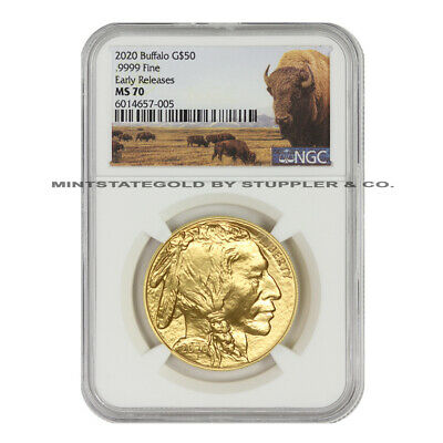 $2185.52 • Buy 2020 $50 Gold Buffalo NGC MS70 Early Releases American 1oz 24KT Bullion W/ Bison