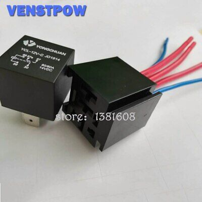 $ CDN6.04 • Buy 1SET 5Pin 80A Direct-current Relay Automotive Relays 12VDC JD1914 With Five-wire