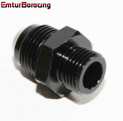 $6.49 • Buy EMUSA -8AN Male To M16x1.5Metric Male Flare Hose End Fitting Adapter Black