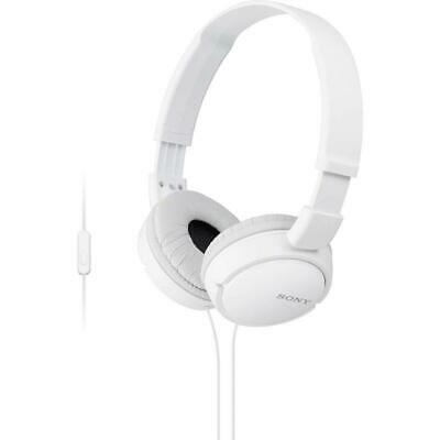 Sony MDR-ZX110 White Sound Monitoring Headphones With Smartphone Mic & Control • 23.99£