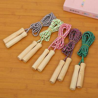 £3.99 • Buy Wooden Handle Skipping Rope Outdoor Toy Children Kid Fitness Exercise Speed Jump
