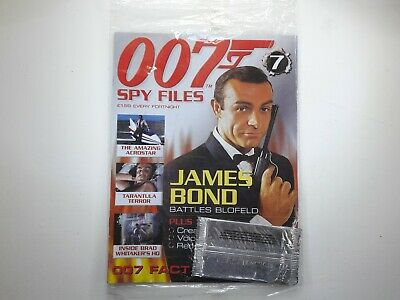 007 Spy Files James Bond Magazine Issue No:7 SEALED With Cards • 10£