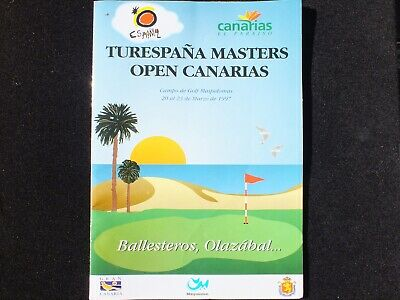 Programme Canaries Open Hand Signed By Seve Ballesteros & JM Olazabal Not Copies • 199£