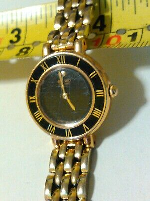 $ CDN50.74 • Buy Seiko 1N00-0D29 R1 Gold Tone Black Dial Womens Quartz Watch Needs Battery