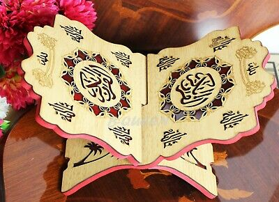 Islamic Wooden Quran Holy Book Stand Holder For Eid Ramadan Gift • 13.99£
