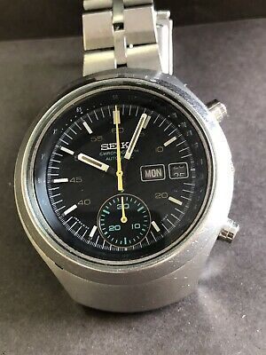 $ CDN275.06 • Buy Vintage Seiko 6139  8012  - Chronograph, Authentic Gray  Dial Day Date