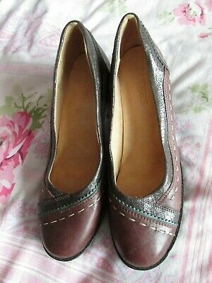 Pavers Brown Soft Leather Shoes Size 37 Heel 2.5  • 9.99£