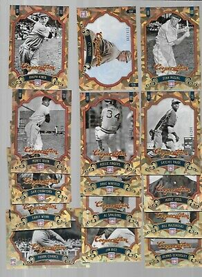 $1.25 • Buy LOT OF 16-2012 Panini Cooperstown CRYSTAL #/299 MUSIAL PAIGE KINER CY YOUNG RICE