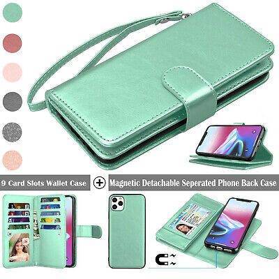 AU12.90 • Buy For IPhone 11/12 Mini/Pro/Xs Max/XR/8/SE 2020 Wallet Case Card Flip Stand Cover