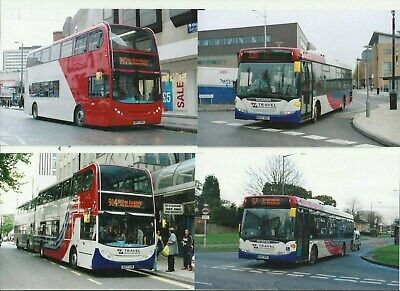 Birmingham National Express Bus / West Midlands Travel Photographs X 4 From 2007 • 1.99£