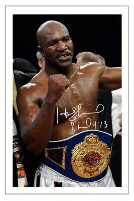 £1.89 • Buy EVANDER HOLYFIELD Signed Autograph PHOTO Fan Gift Signature Print BOXING Boxer