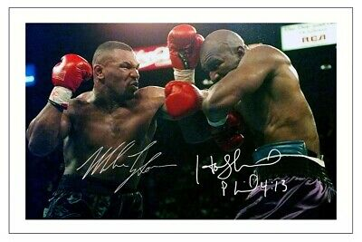 £1.89 • Buy Evander Holyfield & Mike Tyson Signed Photo Print Autograph Boxing