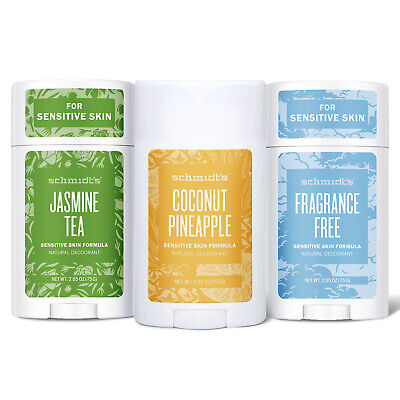 Schmidt's Natural Sensitive Deodorant Stick Of 75g, Pack Of 6 & 12 • 34.99£