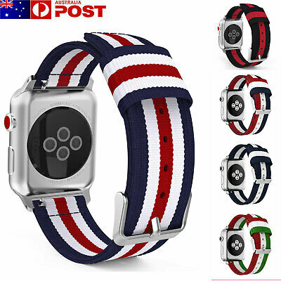 AU10.99 • Buy For Apple Watch Series 5/4/3/2/1 Band Woven Nylon Watch Strap Sports IWatch Band