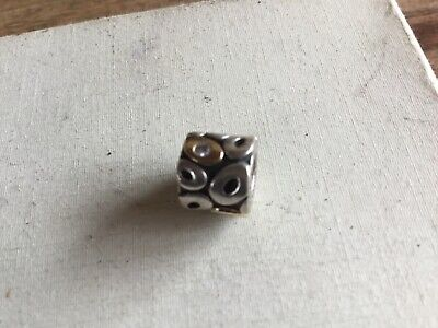 Genuine Pandora Bead Silver With Slight Gold And Diamond - Excellent Condition • 10£