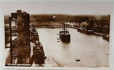 £10 • Buy Immingham Dock, Grimsby. 23324. Boots Cash Chemists. Real Photo. Postcard.