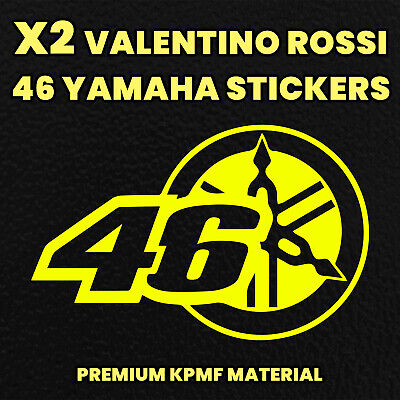 X2 VALENTINO ROSSI 46 YAMAHA Decals Motorbike Stickers Motorcycle Tank Fairing • 2.89£