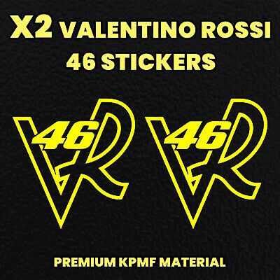 X2 VALENTINO ROSSI 46 Initials Decals Motorbike Stickers Motorcycle Tank Fairing • 2.89£