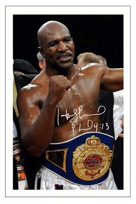 £5.49 • Buy Evander Holyfield Boxing Signed Autograph Photo Print