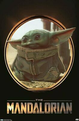 $9 • Buy Star Wars: The Mandalorian - The Child Baby Yoda Wall Poster Art New 23  X 34