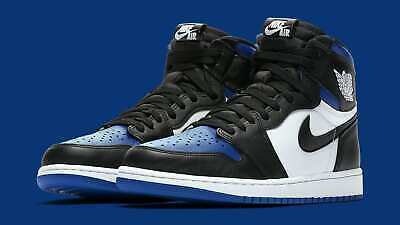 $299.99 • Buy Air Jordan 1 Retro High OG Size 8.5. White Blue Black. Royal Toe 555088-041.