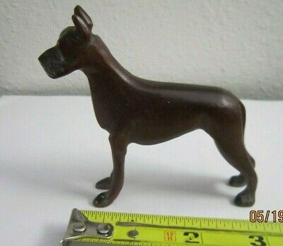 $22.99 • Buy Vintage Carved Dark Wood Wooden Dog Collectible Figurine 3 1/4  Tall Very Nice!