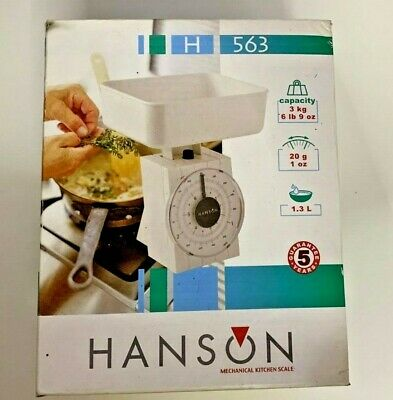 Mechanical Kitchen Scale [ Min: 20gr - Up To 3Kg ] Hanson Model:  H563  • 15£
