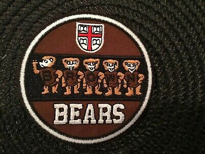 $6.89 • Buy BU BROWN University Bears Vintage Embroidered Iron On Patch  3  X 3