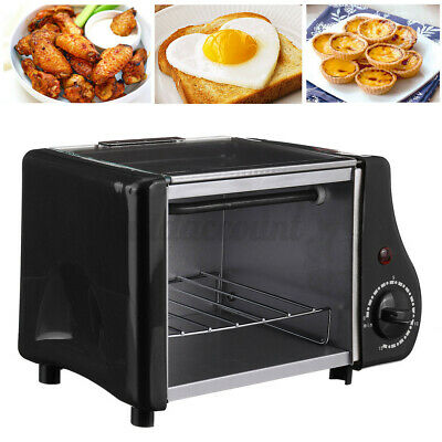 Mini 1.5L Toaster Oven Tabletop Cooking Pan Baking Portable Oven 220W Compact UK • 27.94£