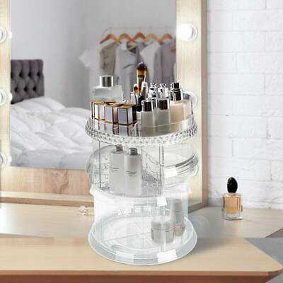 360°Rotating MakeUp Cosmetic Case Organizer Storage Box Display Stander Acrylic • 10.39£