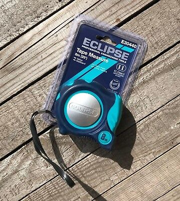Eclipse 8M (26Ft) Auto Lock Tape Measure - Soft Feel - Imperial & Metric • 7.95£