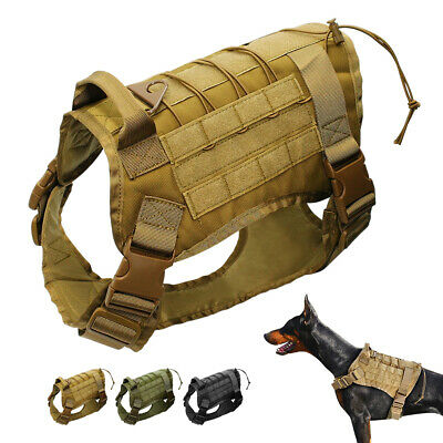 AU39.99 • Buy Tactical Dog Harness For K9 Dogs MOLLE Military Vest Training German Shepherd