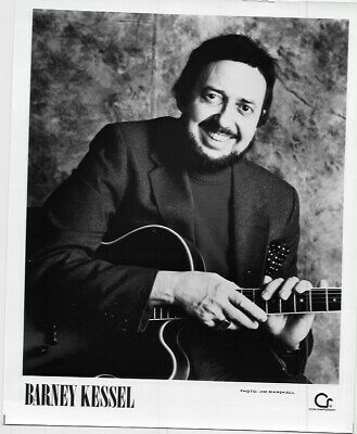 $ CDN20 • Buy Barney Kessel Press Release Photo Picture 10x8 B&W Band ART Rock Music VTG