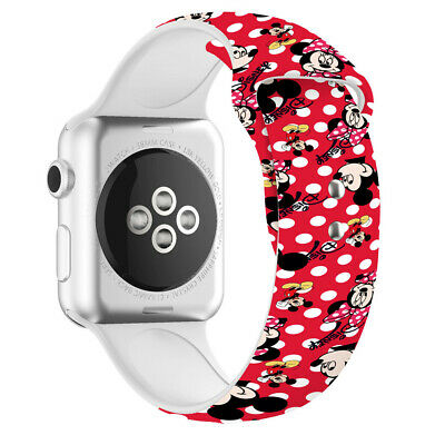 $ CDN10.52 • Buy Cartoon Mickey For Apple Watch Band 38/40mm 42/44mm Series 5 4 3 2 1 Wrist Strap