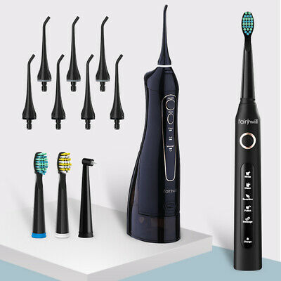 View Details Fairywill Electric Toothbrush Rechargeable Dental Water Flosser Oral Irrigator • 34.99£