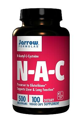 AU29.90 • Buy Jarrow Formulas NAC N-Acetyl-L-Cysteine 500mg 100 Caps, Premium Qual Best Value