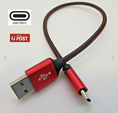 AU5.79 • Buy Type-C USB Data Snyc FAST Charger Charging Cable Short 30cm
